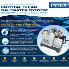 Amazon.com : Intex Krystal Clear Saltwater System with E.C.O. ...