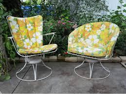 vintage mid century modern patio furniture. Mid Century Modern Homecrest Patio Chairs Set Wire Swivel Vintage Outdoor Furniture R