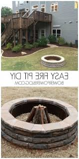 fire pit with retaining wall blocks