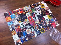 Attractive Album Cover Collage Poster And Cool Ideas Of DIY Music Art  Collage Fun Project Posters 1