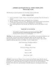 Resume Asa Essay Format