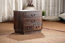 traditional furniture living room. Japanese Antique Wooden 4 Drawer Cabinet Paulownia Wood Asian Traditional Furniture Living Room Small Storage M