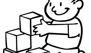 Disegno Di Giochi A Scuola Da Colorare Per Bambini Con Bambino Che
