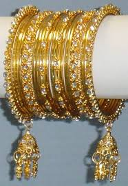 indian gold bangles with jhumkas diamante jhumka churi cian