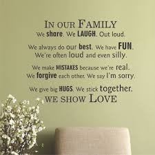 In Our Family We Show Love Wall Quotes™ Decal | WallQuotes.com