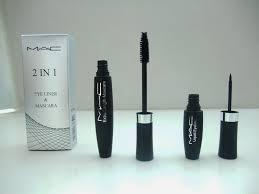 mac 2 in 1 eyeliner mascara eye lashes natural thick curling makeup