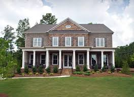 pictures of houses with stone and brick | Lovely Brick and Stone Exterior With  Columns and
