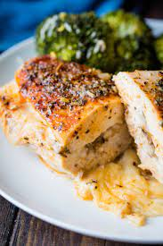 One of my favorite chicken breast recipes & the best way to make juicy chicken right on the stove. Stuffed Herbed Chicken Breasts