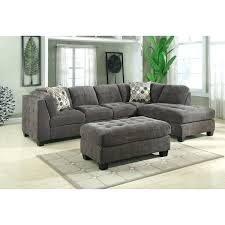 lidia 82 fabric 2 pc chaise sectional sofa with storage ottoman emerald home gray block