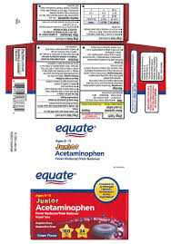 Jr Strength Acetaminophen Dosage Chart Junior Acetaminophen Ages 6 11 Tablet Chewable Wal Mart