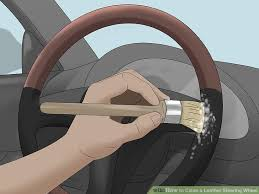image titled clean a leather steering wheel step 6
