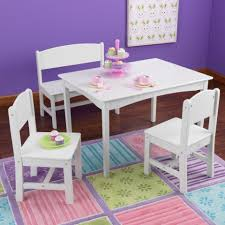 Nantucket Bedroom Furniture Nantucket Table With Bench And 2 Chairs White