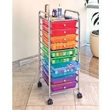 office rolling cart. brilliant cart seville 10 drawer multi color rolling cart  office school garage storage  crafts  ebay intended