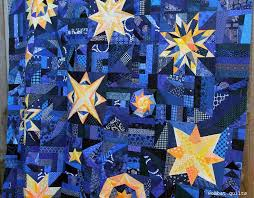 16 best Starry night quilt images on Pinterest | Starry nights ... & Okay I finally managed to wrangle the Starry Night quilt top enough to get  some photos Adamdwight.com