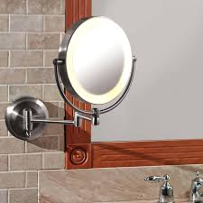 wall mounted mirror with light battery powered wall mount mirror wall mounted lighted makeup mirror battery