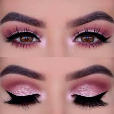 pink eyeshadow prom makeup look