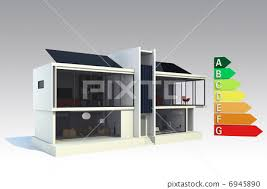 Class House Chart Energy Class Chart And Smart House Stock Illustration