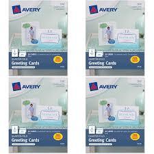 Quarter Cards Avery Quarter Fold Greeting Cards For Inkjet Printers 4 25