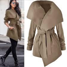 fashion women las winter trench coat warm parka