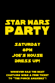 star wars template star wars party template postermywall