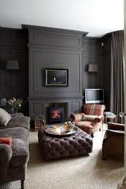 Bringing Wall-To-Wall Carpet Back. Dark Painted WallsDark Gray WallsPainted  PanellingWall PanellingWood PanelingLiving Room ...