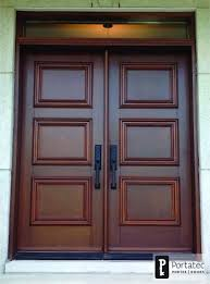 double wood door with rectangular transom