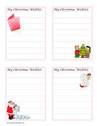 Free Christmas List Template Christmas Wish List 3