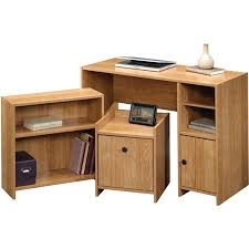 Office in a box furniture Workstation Walmart Sauder Beginnings Officeinabox Highland Oak Walmartcom