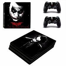 全新batman Joker 小丑 Ps4 Pro Playstation 4保護貼 有趣貼紙 包主機底面2個手掣