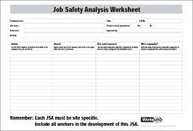 Job Safety Analysis Template Free Beauteous Template Free Job Safety Analysis Format Construction Jsa Examples