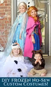 diy disney frozen no sew custom costumes
