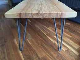 solid ash slab hairpin leg coffee table plane and grain australia 7b0d444812554c091fd6ee2af20