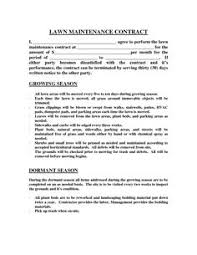 Sample Lawn Care Contracts Under Fontanacountryinn Com