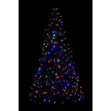 indoor outdoor pre lit led artificial christmas tree with green frame and 280 multi color lights g5m led the
