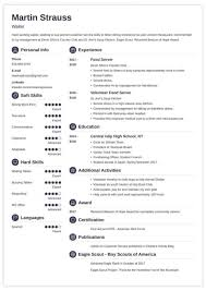 024 Resume Templates Free Download Examples For Teens Builder