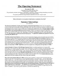 Business Letter Opening Statement Picture Resume Examples For