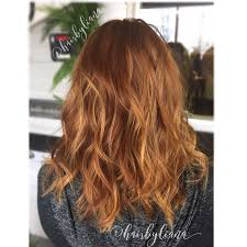 Copper Hair With Golden Blonde Balayage