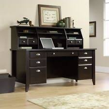 home office desk with hutch. sauder shoal hutch wood computer home writing executive office desk organizer with