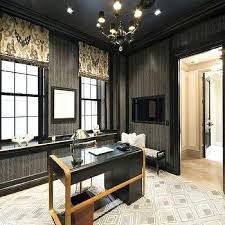 wallpapered office home design. Wonderful Home Den Wainscoting Design Ideas Wallpapered Home Office Inside