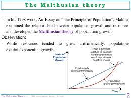 the malthusian theory environmental studies amit z chaudhari the malthusian theory 2