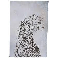 minimal leopard canvas wall decor