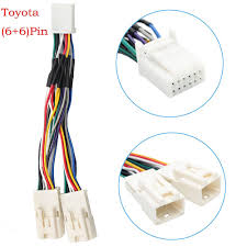 toyota wiring harness promotion shop for promotional toyota wiring y cable radio wiring harness for usb adapter cd changer navigation device fit for toyota 6 6 pin 2003 2014 camry corolla