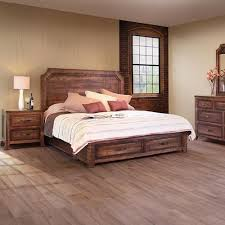 International Furniture Direct Regal Rustic King Bed with