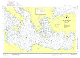 International Nautical Charts Nga Chart 302 Mediterranean Sea Eastern Part