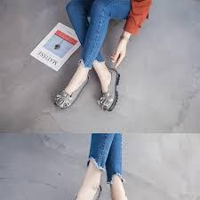 Genuine <b>Leather</b> Original Handmade <b>Leather</b> women's Shoes <b>Peas</b> ...