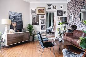 Living room furniture color ideas Walls Oddly Shaped Living Room With Gallery Wall The Spruce How To Decorate Small Living Room In 17 Ways