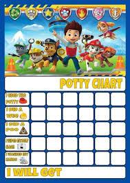 Paw Patrol Potty Toilet Training Reward Chart Free Stars Pen