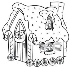Gingerbread Coloring Pages For Preschoolers Free Gingerbread House