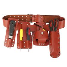 yosoo scaffolding belt scaffolding tool 5in1 leather tool belt pouch scaffolding tool with tool holder for level spanners hammer