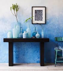 cool blue wall painting